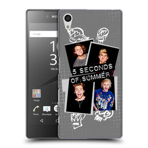 Plastové pouzdro na mobil Sony Xperia Z5 HEAD CASE 5 Seconds of Summer - Band Grey