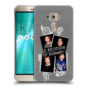 Plastové pouzdro na mobil Asus ZenFone 3 ZE520KL HEAD CASE 5 Seconds of Summer - Band Grey