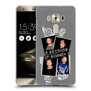 Plastové pouzdro na mobil Asus ZenFone 3 Deluxe ZS570KL HEAD CASE 5 Seconds of Summer - Band Grey