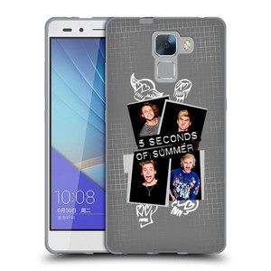 Silikonové pouzdro na mobil Honor 7 HEAD CASE 5 Seconds of Summer - Band Grey