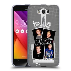 Silikonové pouzdro na mobil Asus ZenFone 2 Laser ZE500KL HEAD CASE 5 Seconds of Summer - Band Grey