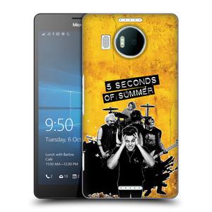 Plastové pouzdro na mobil Microsoft Lumia 950 XL HEAD CASE 5 Seconds of Summer - Band Yellow