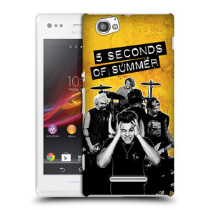 Plastové pouzdro na mobil Sony Xperia M C1905 HEAD CASE 5 Seconds of Summer - Band Yellow