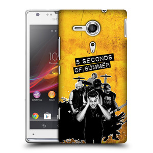 Plastové pouzdro na mobil Sony Xperia SP C5303 HEAD CASE 5 Seconds of Summer - Band Yellow