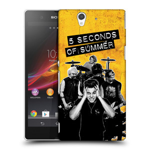 Plastové pouzdro na mobil Sony Xperia Z C6603 HEAD CASE 5 Seconds of Summer - Band Yellow