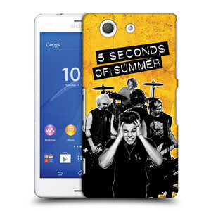 Plastové pouzdro na mobil Sony Xperia Z3 Compact D5803 HEAD CASE 5 Seconds of Summer - Band Yellow