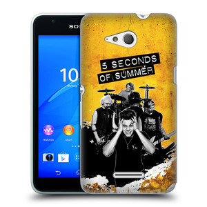 Plastové pouzdro na mobil Sony Xperia E4g E2003 HEAD CASE 5 Seconds of Summer - Band Yellow