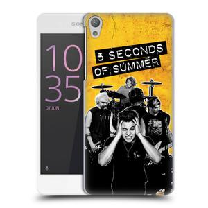 Plastové pouzdro na mobil Sony Xperia E5 HEAD CASE 5 Seconds of Summer - Band Yellow