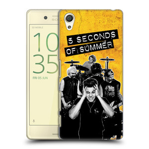 Plastové pouzdro na mobil Sony Xperia X HEAD CASE 5 Seconds of Summer - Band Yellow