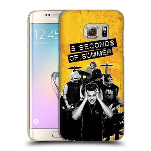 Plastové pouzdro na mobil Samsung Galaxy S7 Edge HEAD CASE 5 Seconds of Summer - Band Yellow