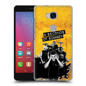 Plastové pouzdro na mobil Honor 5X HEAD CASE 5 Seconds of Summer - Band Yellow