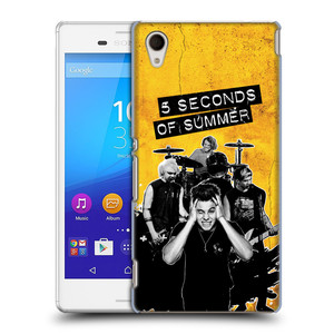 Plastové pouzdro na mobil Sony Xperia M4 Aqua E2303 HEAD CASE 5 Seconds of Summer - Band Yellow