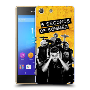 Plastové pouzdro na mobil Sony Xperia M5 HEAD CASE 5 Seconds of Summer - Band Yellow