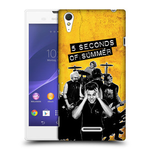 Plastové pouzdro na mobil Sony Xperia T3 D5103 HEAD CASE 5 Seconds of Summer - Band Yellow
