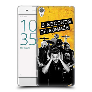 Plastové pouzdro na mobil Sony Xperia XA HEAD CASE 5 Seconds of Summer - Band Yellow