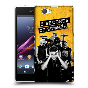 Plastové pouzdro na mobil Sony Xperia Z1 Compact D5503 HEAD CASE 5 Seconds of Summer - Band Yellow