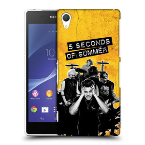 Plastové pouzdro na mobil Sony Xperia Z2 D6503 HEAD CASE 5 Seconds of Summer - Band Yellow