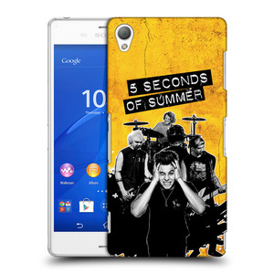 Plastové pouzdro na mobil Sony Xperia Z3 D6603 HEAD CASE 5 Seconds of Summer - Band Yellow