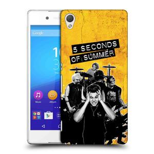 Plastové pouzdro na mobil Sony Xperia Z3+ (Plus) HEAD CASE 5 Seconds of Summer - Band Yellow