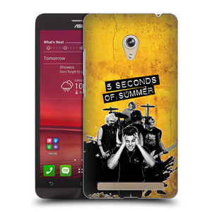 Plastové pouzdro na mobil Asus Zenfone 6 HEAD CASE 5 Seconds of Summer - Band Yellow