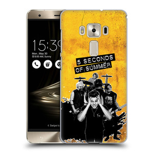 Plastové pouzdro na mobil Asus ZenFone 3 Deluxe ZS570KL HEAD CASE 5 Seconds of Summer - Band Yellow