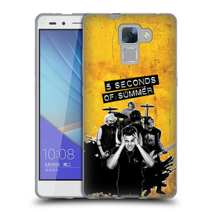 Silikonové pouzdro na mobil Honor 7 HEAD CASE 5 Seconds of Summer - Band Yellow