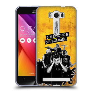 Silikonové pouzdro na mobil Asus ZenFone 2 Laser ZE500KL HEAD CASE 5 Seconds of Summer - Band Yellow