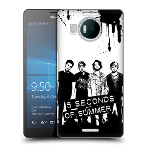 Plastové pouzdro na mobil Microsoft Lumia 950 XL HEAD CASE 5 Seconds of Summer - Band Black and White