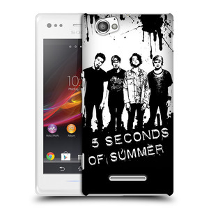 Plastové pouzdro na mobil Sony Xperia M C1905 HEAD CASE 5 Seconds of Summer - Band Black and White