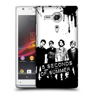 Plastové pouzdro na mobil Sony Xperia SP C5303 HEAD CASE 5 Seconds of Summer - Band Black and White