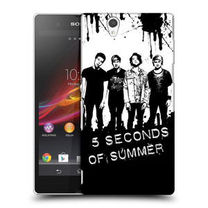 Plastové pouzdro na mobil Sony Xperia Z C6603 HEAD CASE 5 Seconds of Summer - Band Black and White