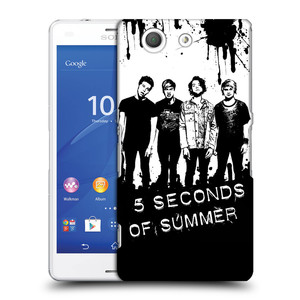 Plastové pouzdro na mobil Sony Xperia Z3 Compact D5803 HEAD CASE 5 Seconds of Summer - Band Black and White