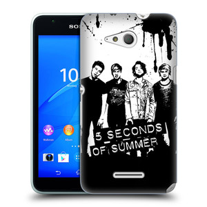 Plastové pouzdro na mobil Sony Xperia E4g E2003 HEAD CASE 5 Seconds of Summer - Band Black and White