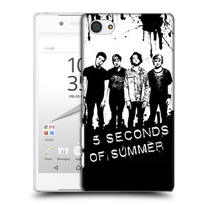 Plastové pouzdro na mobil Sony Xperia Z5 Compact HEAD CASE 5 Seconds of Summer - Band Black and White