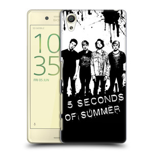 Plastové pouzdro na mobil Sony Xperia X HEAD CASE 5 Seconds of Summer - Band Black and White