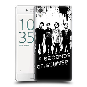 Plastové pouzdro na mobil Sony Xperia X Performance HEAD CASE 5 Seconds of Summer - Band Black and White
