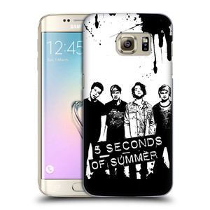 Plastové pouzdro na mobil Samsung Galaxy S7 Edge HEAD CASE 5 Seconds of Summer - Band Black and White