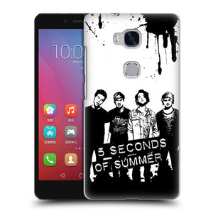 Plastové pouzdro na mobil Honor 5X HEAD CASE 5 Seconds of Summer - Band Black and White