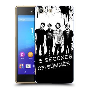Plastové pouzdro na mobil Sony Xperia M5 HEAD CASE 5 Seconds of Summer - Band Black and White