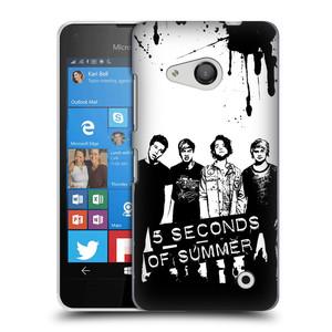 Plastové pouzdro na mobil Microsoft Lumia 550 HEAD CASE 5 Seconds of Summer - Band Black and White