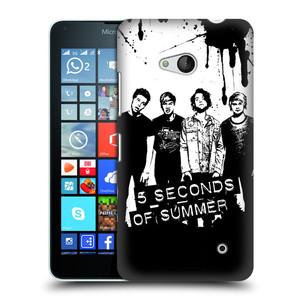 Plastové pouzdro na mobil Microsoft Lumia 640 HEAD CASE 5 Seconds of Summer - Band Black and White