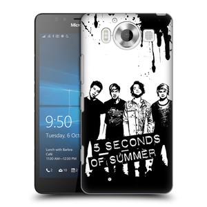 Plastové pouzdro na mobil Microsoft Lumia 950 HEAD CASE 5 Seconds of Summer - Band Black and White
