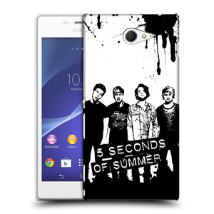 Plastové pouzdro na mobil Sony Xperia M2 D2303 HEAD CASE 5 Seconds of Summer - Band Black and White