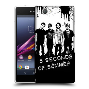 Plastové pouzdro na mobil Sony Xperia Z1 Compact D5503 HEAD CASE 5 Seconds of Summer - Band Black and White