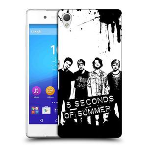 Plastové pouzdro na mobil Sony Xperia Z3+ (Plus) HEAD CASE 5 Seconds of Summer - Band Black and White
