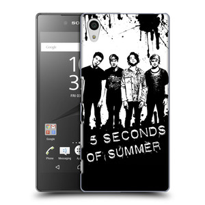 Plastové pouzdro na mobil Sony Xperia Z5 HEAD CASE 5 Seconds of Summer - Band Black and White