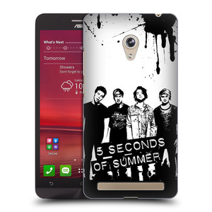 Plastové pouzdro na mobil Asus Zenfone 6 HEAD CASE 5 Seconds of Summer - Band Black and White