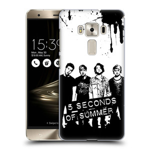 Plastové pouzdro na mobil Asus ZenFone 3 Deluxe ZS570KL HEAD CASE 5 Seconds of Summer - Band Black and White