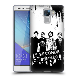 Silikonové pouzdro na mobil Honor 7 HEAD CASE 5 Seconds of Summer - Band Black and White