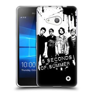 Silikonové pouzdro na mobil Microsoft Lumia 550 HEAD CASE 5 Seconds of Summer - Band Black and White